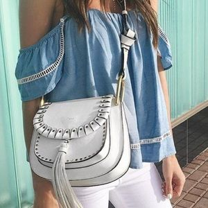 Lovers + Friends Life's a Beach Chambray Top Small